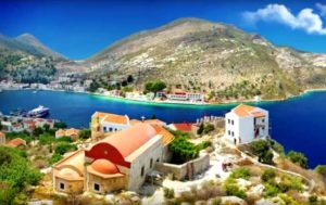 Kastellorizo is peaceful island in the Mediterranean sea.